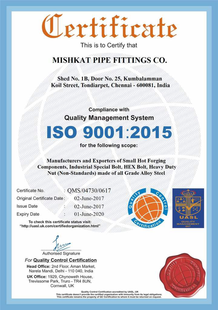 MISHKAT PIPE FITTINGS CO